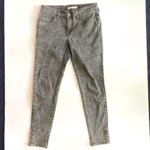 Levi's Super Skinny Button Ankle Jeans in Grey Sz 29